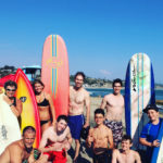 Elite Training Camp w Rocky Carson & Fran Davis August 2016 - Learning surfing after a hard day on the courts.