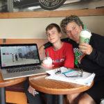 Mitchell Turner & Fran Davis - doing Video Analysis as part of preparation.