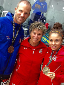 2016 World Champions Rocky Carson, Paola Longoria, w Coach Fran Davis